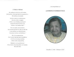 Paul, Lawrence 1 bulletin